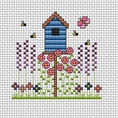 small house cross stitch - Google Search