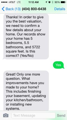 Virgent Realty providing home valuations via text message