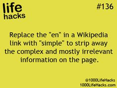 The more you know ;) #1000 Life Hacks