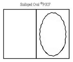 Scalloped oval card template I made
