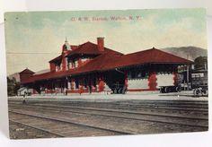 ANTIQUE WALTON, N.Y. New York, O&W RAILROAD STATION Ontario and Western Railway | eBay