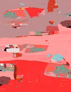 Provence Paysage abstrait rouge rose - galerie TACT ://