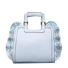 Robin's Egg Blue ruffled edge handbag.
