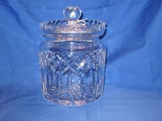 Waterford Lismore Biscuit Barrel Perfect by MountainShine on Etsy, $150.00