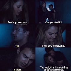 This part in the book okay every FourTris scene or part is so cute like the truth scene in the movie and the part when Four tells Tris that he loves her, that is and always will be my favorite scene ever!