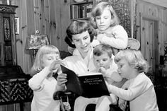 """My Mother's 3 Passions: A Tribute to Ruth Bell Graham.""  Pictured:  Ruth Graham with kids."