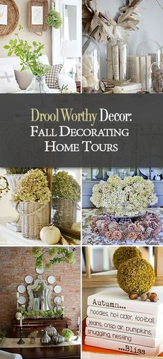 Drool Worthy Decor : Fall Decorating Home Tours • Join TBD as we tour some of our fav bloggers homes with fall home tours! Lots of fall decorating ideas and inspiration, no matter what your budget!