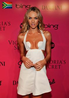 Candice Swanepoel, Little white dress