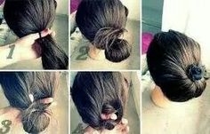Beautiful updo for summertime