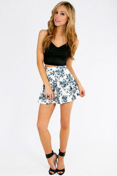 #Tobi                     #Skirt                    #Floral #It's #Worth #Skater #Skirt                 Floral It's Worth Skater Skirt $48                                            http://www.seapai.com/product.aspx?PID=1221006