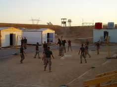 Volleyball at Al Qaim, Iraq-one of the bases I worked at