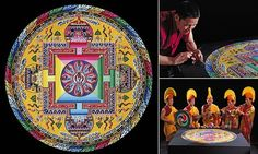 Monks spend 30 hours building art with millions of grains of sand