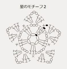 How to Crochet Puff Stitch Flower (treble crochet Crochet Snowflake Pattern, Crochet Motif Patterns, Crochet Symbols, Crochet Flower Tutorial, Crochet Stars, Christmas Crochet Patterns, Crochet Snowflakes, Diy Crochet, Crochet Designs