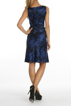 DKNY Grace Dress In Blue