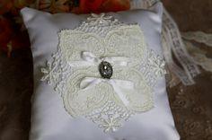 Ring Bearer Pillow White Lace Ring Bearer by TheWeddingDivas, $18.50