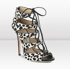 Jimmy Choo. Gail leopard print sandal. Meow. #fashion #shoes