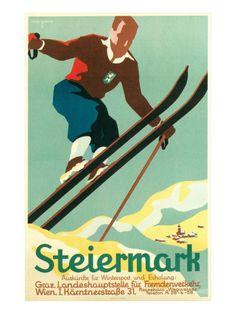 Vintage Travel Poster - Austria - Winter Sports