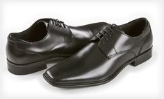 Kenneth Cole's Oxford style shoes is sleek and simple. A solid addition to any suit, the 1-inch stacked-look heel straightens you out and gives you a boost in height and confidence.  60% off right now on Groupon - http://www.groupon.com/deals/gg-kenneth-cole-mens-dress-shoes-2#