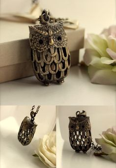 Owl necklace that reminds me of a piece of jewelry that I had back in the 70's as a little girl