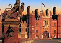 Hampton Court Palace...built by King Henry VIII in the 16th century-home of the cycling time trial event.