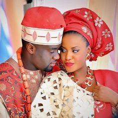 #AfricanShop #AfricanWedding #ProudlyAfriican  Nigerian bride and groom in their traditional wedding wear