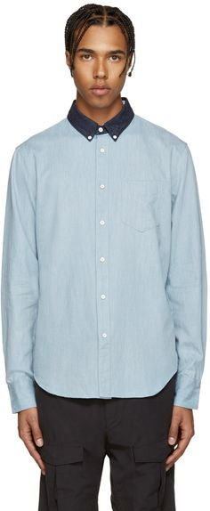 RAG & BONE Blue Yokohama Shirt. #ragbone #cloth #shirt