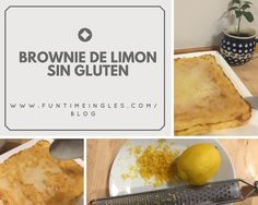 Riquísimo brownie de limón sin gluten; textura pegajosa de brownie con un toque ácido del limón. Sencillo, rico y original!