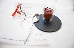 Salmorejo de cerezas con arenque ahumado - Restaurante El Trasgo