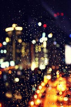 Rainy Night, Melbourne \ Laura Olivia Source by steffikunnapu Bokeh Photography, Night Photography, City Lights Photography, Photography Ideas, Night Window, Rain On Window, City Rain, I Love Rain, Rain Days