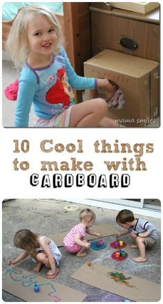 10 Junk Modelling Cardboard Craft Ideas - In The Playroom