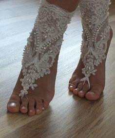 beach shoes,Unique design, bridal sandals, lariat sandals, wedding bridal, bellydance, gothic, wedding shoes, summer wear, handmade
