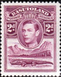 Basutoland 1938 SG 21 King George VI and Crocodile Fine Mint Scott 21 Other African Stamps HERE