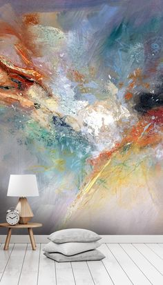 Celestial Wallpaper Mural   Wallsauce   Abstract Wall Mural
