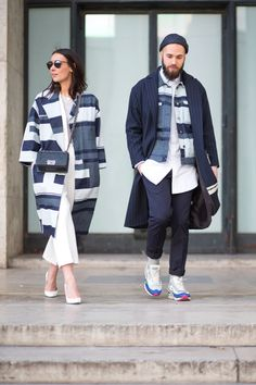 All the cliches hold true: two are better than one, three is a crowd, birds of a feather and all that. Let's add one and see if it sticks: a street style photo is always stronger if you have a chic friend to coordinate with.