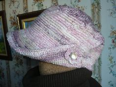 Crochet cap korean cap crochet woman cap crochet pink cap