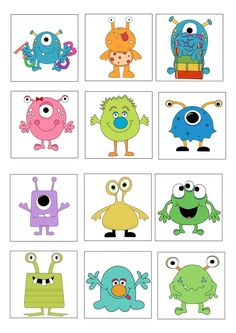 loto des monstres planche 1 ( usage personnel uniquement) More Source by brandy_whitley Monster Party, Cute Monsters, Little Monsters, Monster Classroom, Art For Kids, Crafts For Kids, Doodle Monster, Monster Crafts, Elementary Art