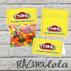 INSTANT DOWNLOAD PlayDoh favor bag/ goodie bag label by Rachellola, $5.00