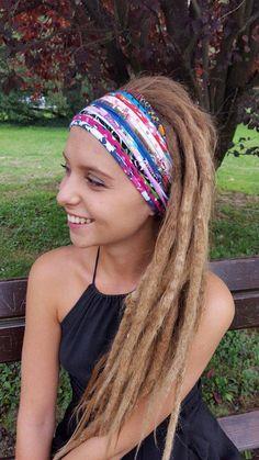 2cd51764694 Funky Multicoloured Headband Multistrand Tribal Headband Dreadband  Dreadlock Accessories Dreadlocks Gift Unique For her wide headband