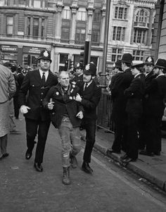 A demonstrator arrested during a rally in support of the strike in London, 1985. Margaret Thatcher's vindictiveness is still with us 30 years after the end of the miners' strike - Dennis Skinner - Mirror Online