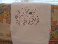 Playful Bear Flour Sack Dish Towel by SugarHillEnterprises on Etsy