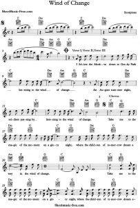 Scorpions Sheet Music | learn piano | Sheet music pdf, Free sheet