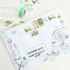 Bohème Circus - Happy mail Pen Pal Letters, Pocket Letters, Celine, Art Postal, Pretty Letters, Envelope Art, Handwritten Letters, Happy Mail, Snail Mail