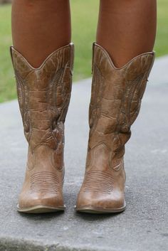 Gaucho Boots: Tan - Off the Racks Boutique