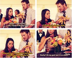April and Andy making shrimp claws, Parks and Recreation S5
