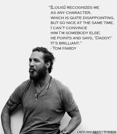 Tom Hardy on his son