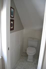 Half bathroom ideas and they're perfect for guests. They don't have to be as functional as the family bathrooms, so hope you enjoy these ideas. Update your bathroom decor quickly with these budget-friendly, charming half bathroom ideas Bathroom Under Stairs, Attic Bathroom, Upstairs Bathrooms, Attic Rooms, Basement Bathroom, Small Bathroom, Bathroom Ideas, Toilet Under Stairs, Guest Bathrooms