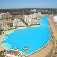 Chile is home to the Guinness Book of World Records Largest Swimming Pool on the planet.