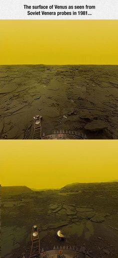 Surface Of Venus... Star trek was right when they used blank out green screens!