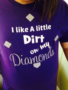 Ladies Softball/Baseball Tee Little Dirt by ShopSouthernSisters, $25.00