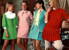 Girls Dresses from a 1970 catalog 70s Mode, Retro Mode, Vintage Mode, Vintage Girls, 1970s Dresses, Girls Dresses, 1960s Fashion, Vintage Fashion, Outfits For Teens
